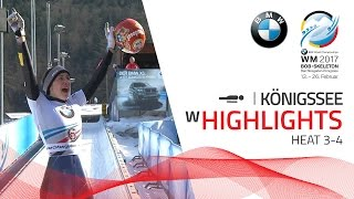 Highlights Heat 3-4 | Jacqueline LÖlling don't miss a beat | BMW IBSF World Championships 2017