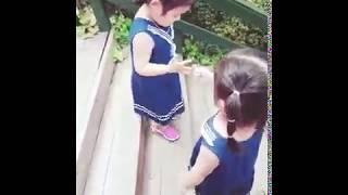 [쌍둥이육아] 나비공원에서 가위바위보 하며 계단 내려오…