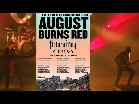 """August Burns Red huge """"Leveler"""" 10th Anniv. tour w/ Fit For A King, ERRA and Like Moths To Flames"""