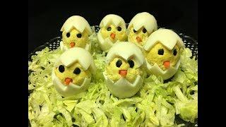 Easter Chick Deviled Eggs  Deviled Egg Chicks  Hatching Chick Deviled Eggs