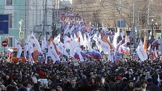 فيديو..مظاهرات حاشدة بموسكو ضد بوتين