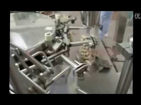 AUTOMATED PEANUT BAGGING MACHINE PRE MADE POUCH BAG FILL HEAT SEAL PACKAGING EQUIPMENT