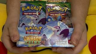 Pokemon Roaring Skiez Booster Pack Opening (5) {WIN CODE CARDS}