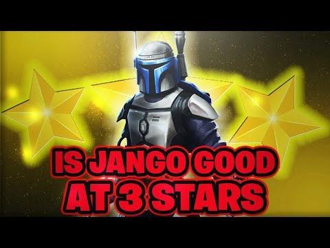Is Jango Fett Good at 3 Stars? 3/4/7 Star Comparison Gameplay! | Star Wars: Galaxy of Heroes