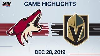 NHL Highlights   Coyotes vs. Golden Knights - Dec. 28, 2019