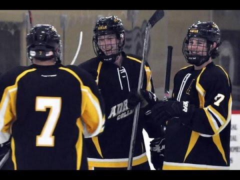 10/30/16 Adrian College Men's ACHA Division 3 Black Hockey vs Michigan-Flint