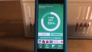 通信会社(au)の通信速度を測定しました。