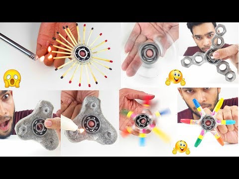 10 Amazing DIY Fidget Spinner making compilation you should never miss out