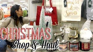 CHRISTMAS DECOR SHOP WITH ME & HAUL 2018 | HOMEGOODS, HOBBY LOBBY & TARGET