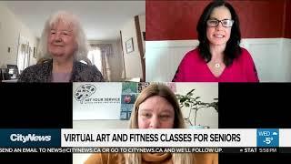 Virtual art and fitness classes for seniors
