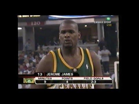 "Jerome ""Big Snacks"" James puts up 22/9/1 on 9/14 shooting in Game 3 vs Sacramento."
