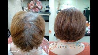 Окрашивание волос с высоким содержанием седины