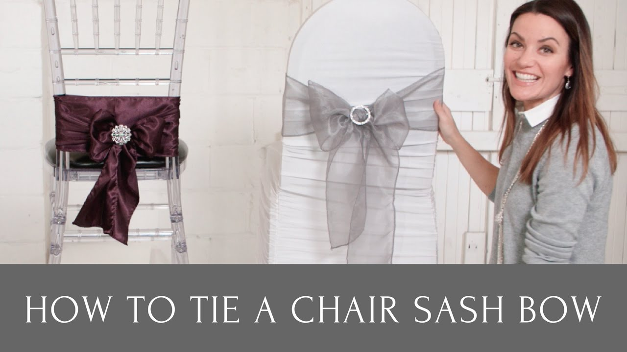 How to Tie a Chair Sash Bow With Chair Sash Buckles and Chair Sash Brooches  sc 1 st  YouTube & How to Tie a Chair Sash Bow With Chair Sash Buckles and Chair Sash ...
