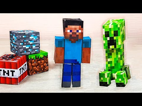 Minecraft Toys From Paper - Origami Papercraft Free Templates