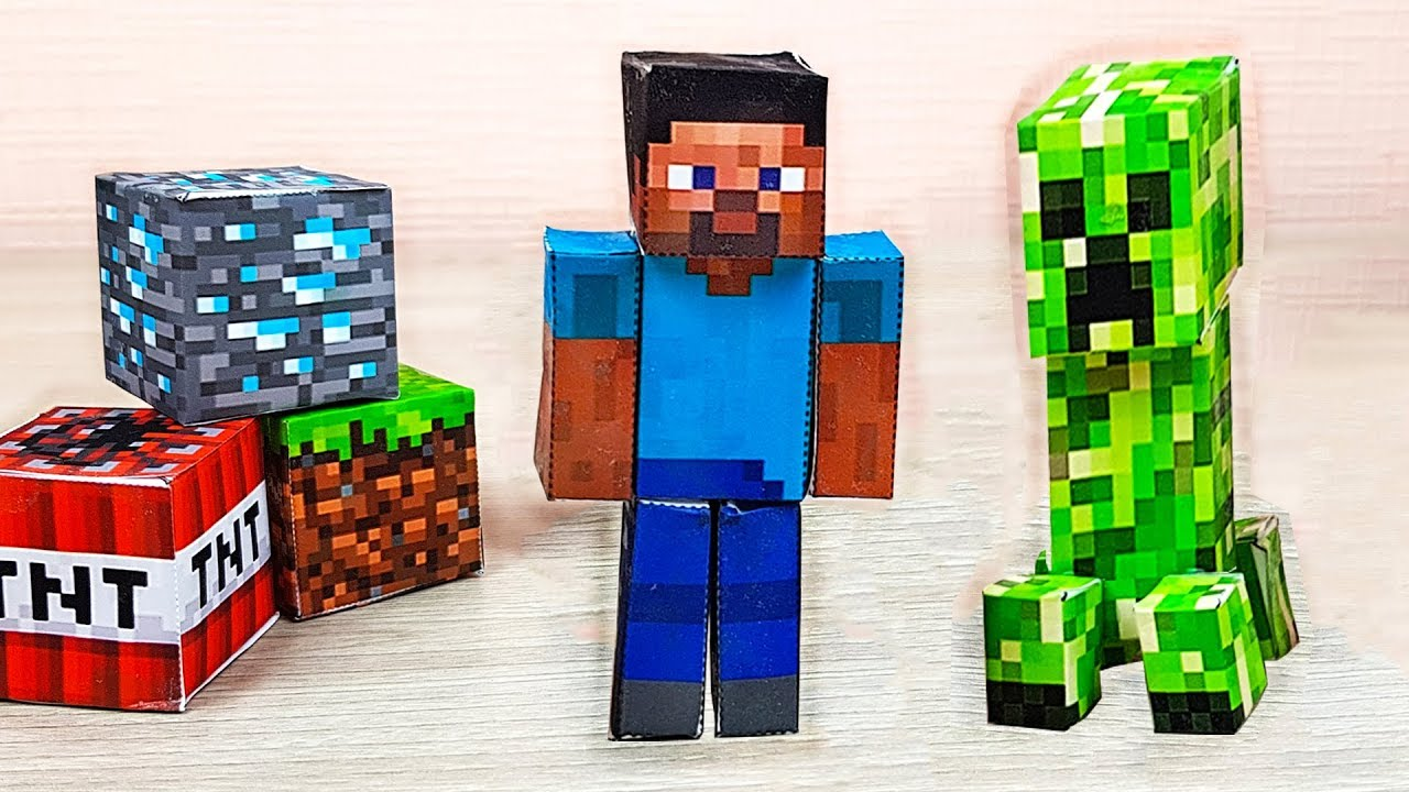 Minecraft Toys from Paper – Origami Papercraft Free Templates
