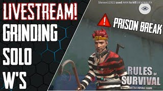 Rules of Survival Livestream - GETTING SOLO WINS AS THE PRISONER! Skins=Wins