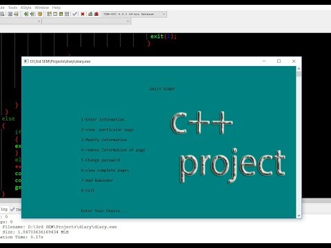 C++ mini-project Daily Diary