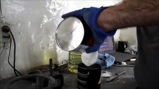 Антигравий  из шовного герметика - обработка новых крыльев