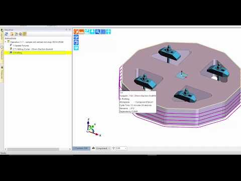 Profiling Cycle – Spring Passes and Arc Feedrate Adjustment | Edgecam 2018 R1