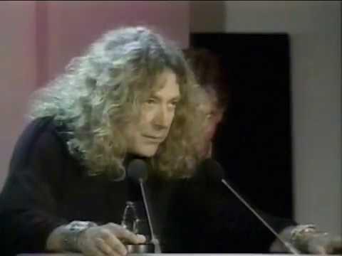 Led Zeppelin Q magazine Merit Award 1992