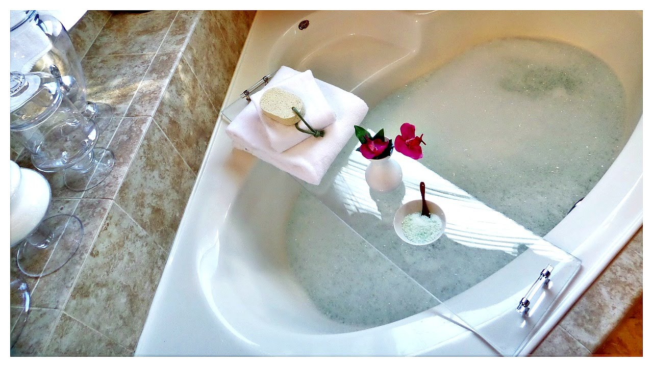 DIY Acrylic Bathtub Tray + DIY Milk Bath🛁 - YouTube