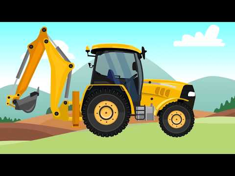 Garage construction machinery - Construction and application - animations for children