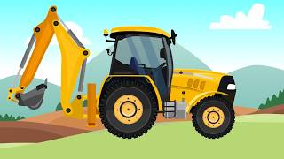 Garage of construction machinery - formation and uses - Excavator, Milling machine and Truck - Bajki