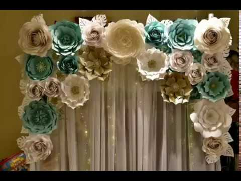 Paper Flower Backdrop Ideas For You House And Home Decoration
