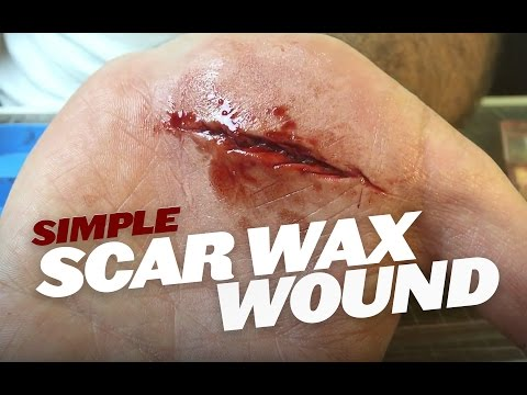 Creating Wounds With Scar Wax Part 2 (Technique) SFX Makeup Tutorial