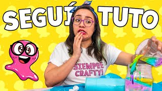 SEGUÍ un TUTORIAL de SUPER SLIME SAM 🙈 *Hice un desastre* ✄ Craftingeek