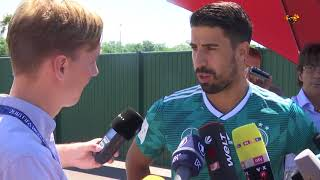 SWEDISH JOURNALIST GIVES TICKETS FOR SAMI KHEDIRA TO FLY HOME FROM WORLD CUP