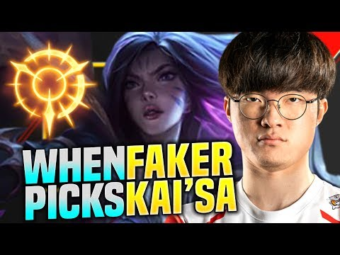 FAKER COSPLAYING TEDDY!? - SKT T1 Faker Plays Kai'sa vs Senna ADC! | S10 KR SoloQ