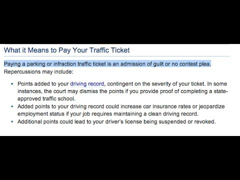 Watch This BEFORE Paying Your Parking or Traffic Citations!
