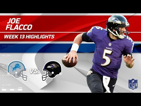 Joe Flacco Tosses 2 TDs & 269 Yards vs. Detroit! | Lions vs. Ravens | Wk 13 Player Highlights
