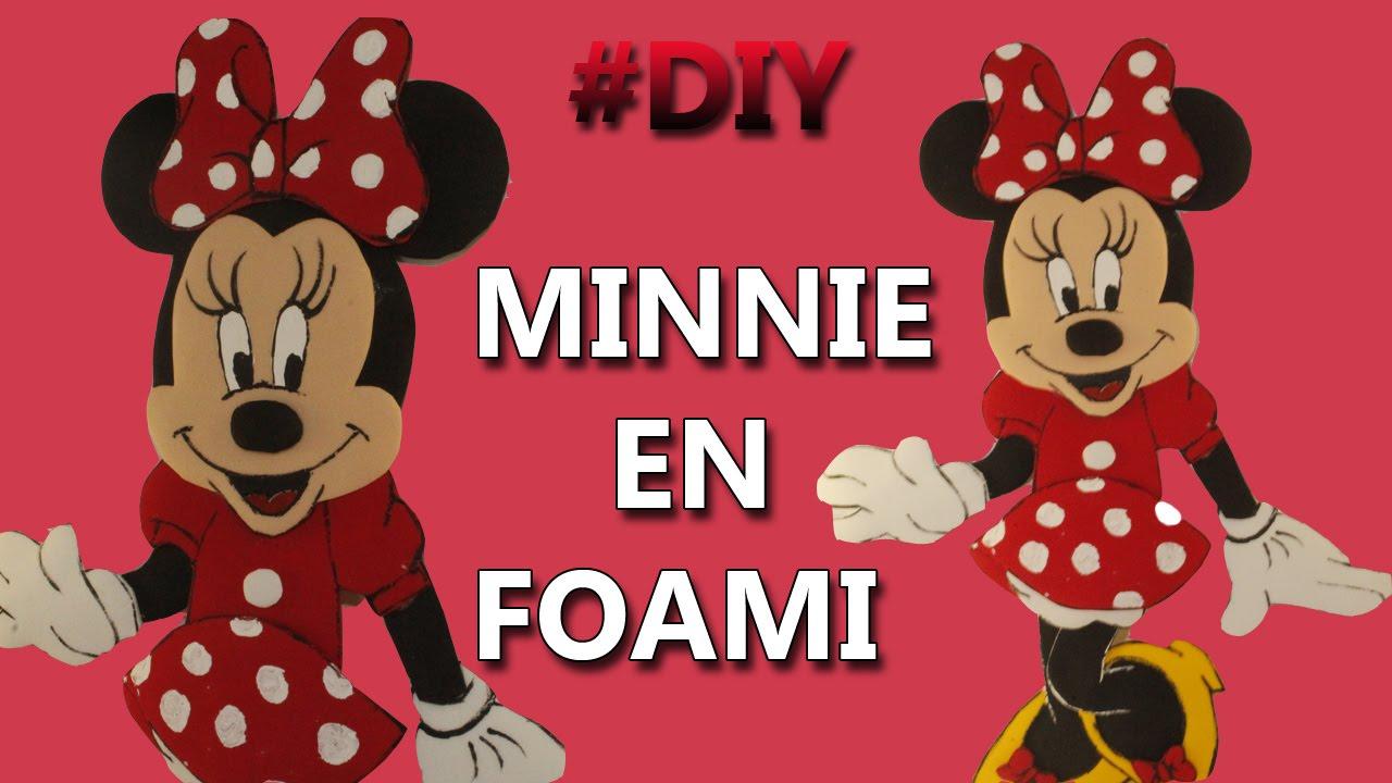 10 Figuras De Fomi Minnie Mouse Roja