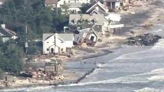 Mantoloking, NJ, Hurricane Sandy destruction aerials, filmed 10/31/12