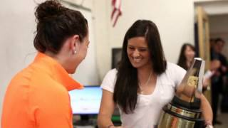 Ali Krieger surprises Morgan Andrews: 2011-12 Girls Soccer POY