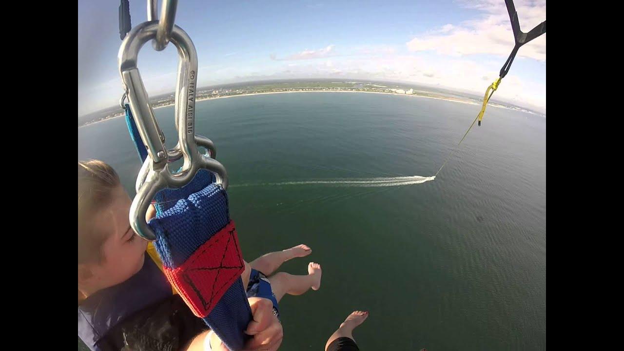 Daytona Beach Parasailing At 1200 Ft Via Gopro