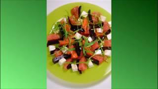 Салат со свеклой, тыквой и апельсинами.