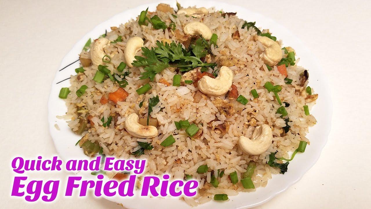 How to make egg fried rice recipe restaurant style quick and how to make egg fried rice recipe restaurant style quick and easy rice hyderabadi food recipe ccuart Choice Image