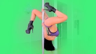 Advanced Freestyle Pole Dance to Lesbionic