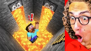 Surviving THE BIGGEST LAVA FLOOD In Minecraft