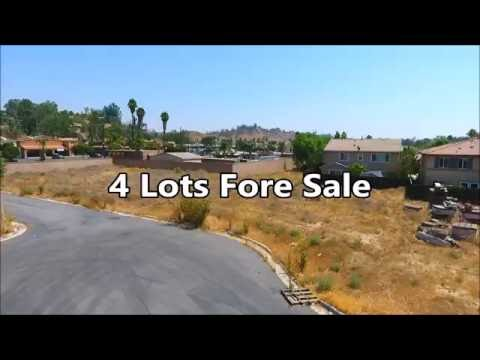 4 lots for sale in Lake elsinore CA