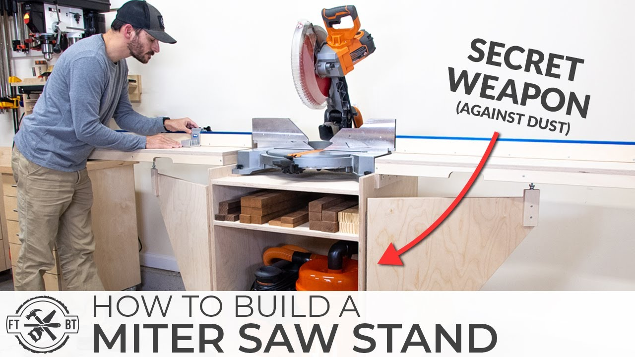 Ultimate Diy Miter Saw Stand How To Build Youtube