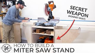 ULTIMATE DIY Miter Saw Stand with Automated Dust Collection