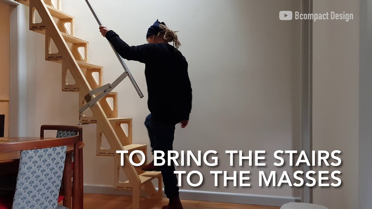 Incredible Sub Compact Stair Design Saves You Space Unlike Ever | Zev Bianchi Stairs Price | Steps | Attic Stairs | Furniture | Tiny House | Bcompact Hybrid Stairs