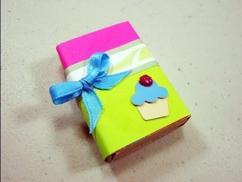 4db30f9d8892 Como hacer una cajita para regalar con una caja de cerillos -  manualidadesconninos
