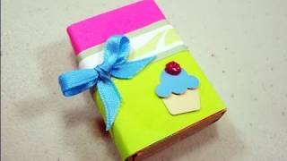 Como hacer una cajita para regalar con una caja de cerillos - manualidadesconninos