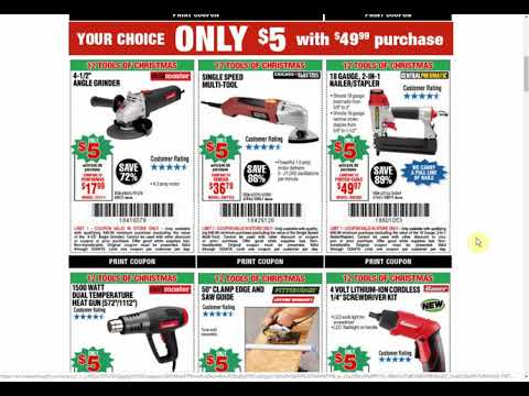 12 $5 Harbor Freight Tool Coupons Just In Time For Christmas!