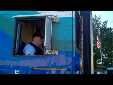 Sounder Commuter Train #1706 Departing Edmonds, WA with a Friendly Chat with Engineer Dennis